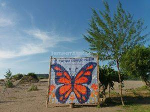 spot foto di taman gumuk pasir Parangkusumo